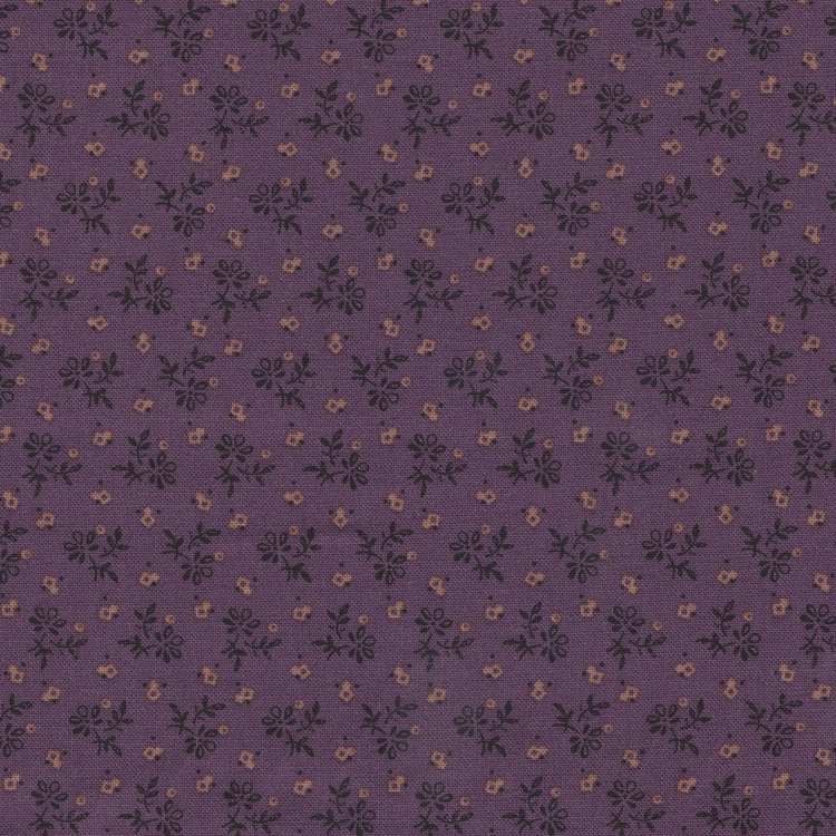 Marcus Fabrics Prairie Shirtings paars mini bloemetje