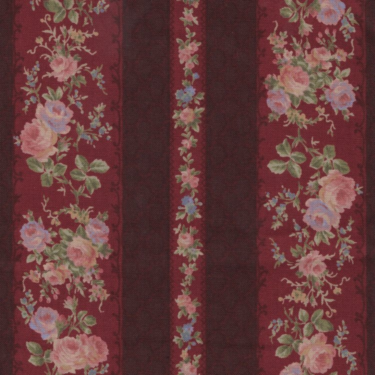 Lecien Antique Rose rood roze roos rand