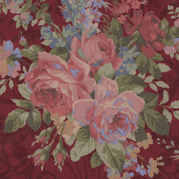 Lecien Antique Rose rood grote roos