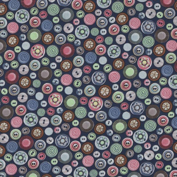 Blank quilting Better Stitch blauw met knoopjes