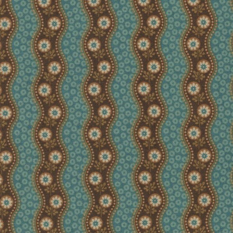 Andover/Makeower Rochester blauw gegolfde streep
