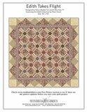 Windham Fabrics Edith ecru met bruin/rode bloemetjes_