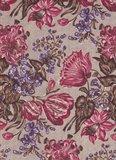 Windham Fabrics Edith bruin met grote bloem_