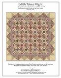 Windham Fabrics Edith ecru met paars/rode bloemetjes_