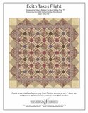 Windham Fabrics Edith ecru met paarse ruit_