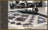 Penny Rose Fabrics Mourning Gray and Purple grijs bloem_