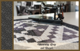 Penny Rose Fabrics Mourning Gray and Purple paars takje_
