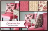 Penny Rose Fabrics Samantha bruin roze bloemetje_