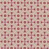 Penny Rose Fabrics Beaujolais taupe met ecru en rood werkje_