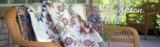 Penny Rose Fabrics Houghton Hall groen blauw blaadje_