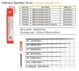 Tulip Milliners Needles (Applicatie/modisten naalden) maat 10 big eye_