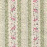 Quilt Gate RURU Bouquet groen roze roos rand_