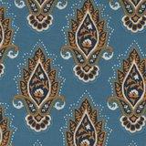 Michael Miller Indian Summer lotusbloem blauw_