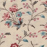 Marcus Fabrics Bathwick ecru fijne bloem_