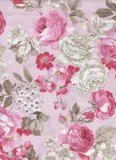 Penny Rose Fabrics English Rose roze grote roos_