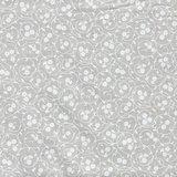 Basic collectie ecru met wit bloemetje_