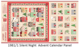Andover Silent night Advent Kalender Paneel_