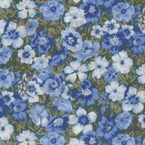 Liberty London The Orchard Garden blauw bloem_