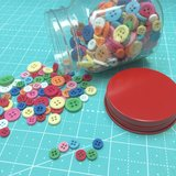 Lori Holt Cute Little Buttons, assortiment knoopjes_