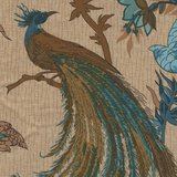 Andover/Makeower Rochester ecru blauwe vogels_