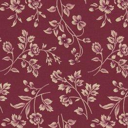 Marcus Fabrics Old Sturbridge Village Anniversary Collection rood ecru bloemtak