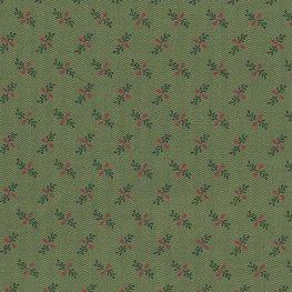 Marcus Fabrics Old Sturbridge Christmas groen rood besje