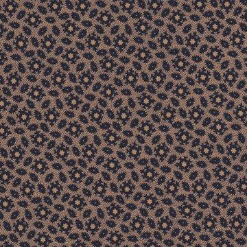 Marcus Fabrics Judie's Album Quilt bruin met donker blauw werkje