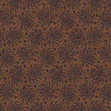 Marcus Fabrics Paula Barnes Companions bruin met een zwart takje