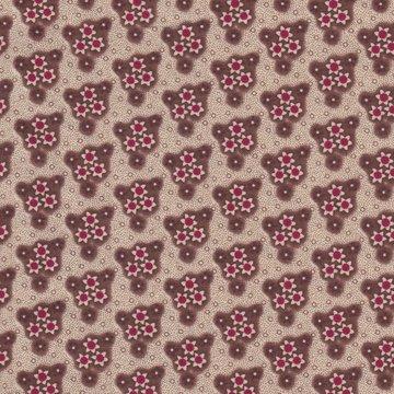 Windham Fabrics Edith ecru met bruin/rode bloemetjes