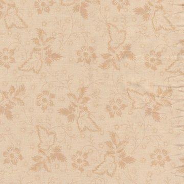 Windham Fabrics Edith ecru met tan bladmotief