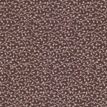 Windham Fabrics Edith bruin met ecru takje