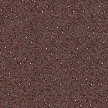 Windham Fabrics Edith bruin met ecru stip