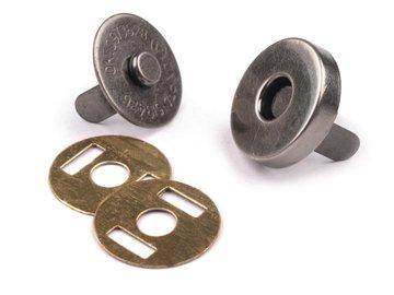 Magneetsluiting 14mm antiek nikkel