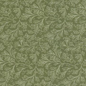 Windham Quilt Back groen met lichtgroen takje