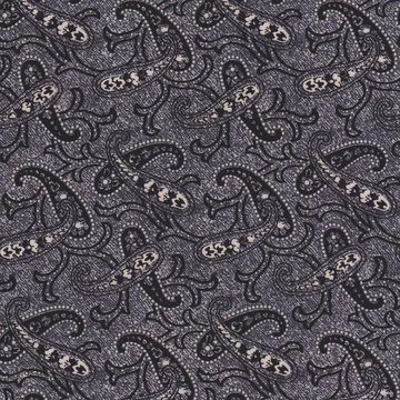 Penny Rose Fabrics Mourning Gray and Purple grijs paisley