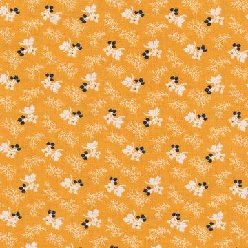 Penny Rose Fabrics Cheddar and Indigo geel met wit en blauw werkje