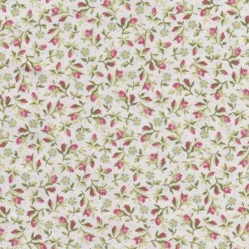 Maywood Graceful Moments ecru met roze rozenknopje