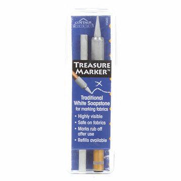 Treasure Marker, zeepsteen markeerpen wit