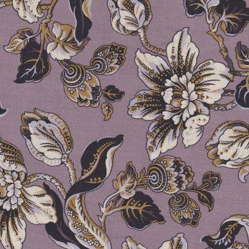 Marcus Fabrics Davenport Gardens paars ecru bloem