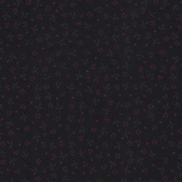 Henri Glass zwart bloemetje