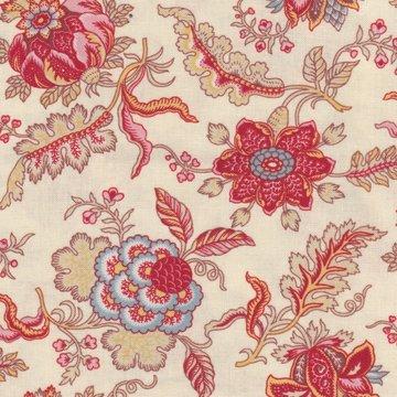 Dutch Heritage VOC Chintz Pomegranate ecru bloem
