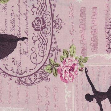 Quilt Gate RURU Bouquet roze ballerina muzieknoten