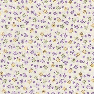 Wilmington Prints Pinafores & Petticoats ecru paars bloemetje