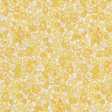 Wilmington Prints Pinafores & Petticoats geel bloem