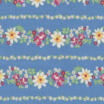 Wilmington Prints Pinafores & Petticoats blauw randstof