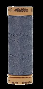 Mettler Quilting Waxed 0672 grijsblauw