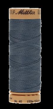Mettler Quilting Waxed 0881 middel grijsblauw
