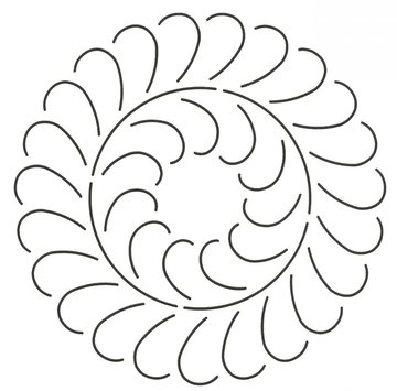 Quilt Stencil Feather Circle