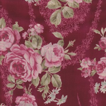 Lecien Antique Rose rood roze roos