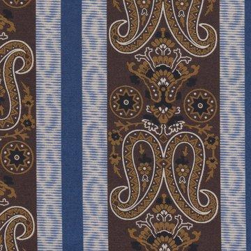 Marcus Fabrics Border Companions blauw/taupe rand